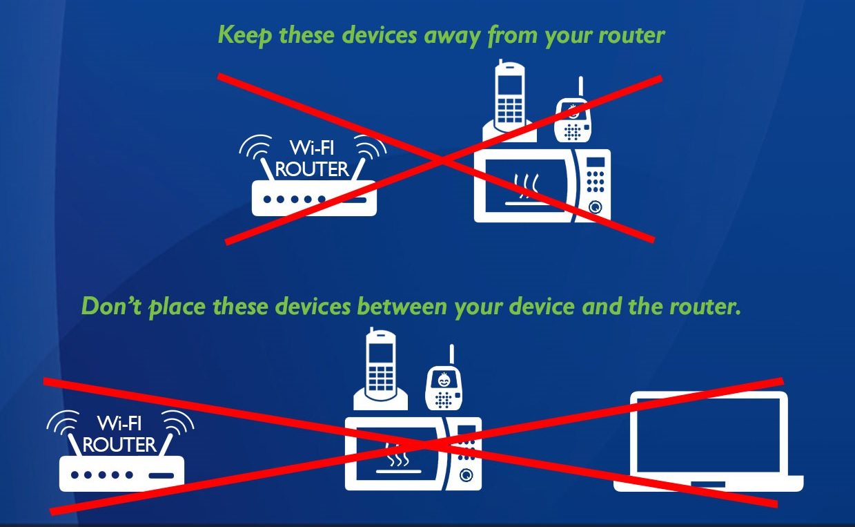 Keep electronics away from WiFi image